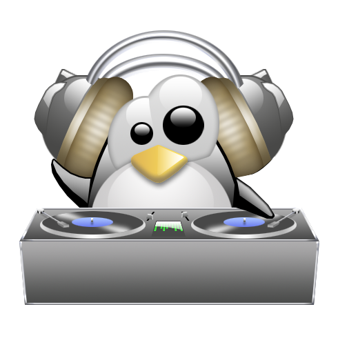 Image: http://www.linuxaria.com/wp-content/uploads/2010/12/tux-dj.png